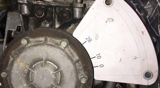 Fiat 500 点火時期調整プレート モックアップ制作
