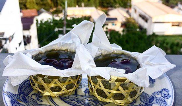仙太郎の夏の和菓子、上品や。、、 見た目も味も。籠も可愛い。 (from Instagram)