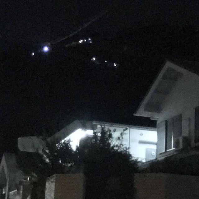 9時過ぎて左大文字の麓通ったらまだ灯が点っていた、、、と思ったら後片づけのLEDライト。(笑) (from Instagram)