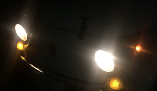 Testing new blinkers of Fiat500 in the dark. (from Instagram)